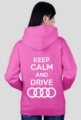 "Bluza rozpinana z kapturem ""KEEP CALM AND DRIVE AUDI"""