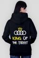 """BLuza z kapturem """"KING OF THE STREET"""" CZARNA (tyl)"""