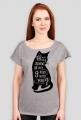 9 żyć, koszulka damska SZARY BIAŁY