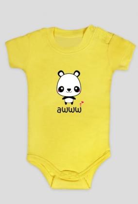 AWWW PANDA body dziecięce