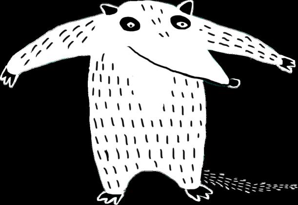Mrówkojad przypinka
