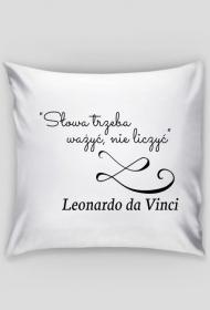 Poszewka na poduszkę - Cytat, L. da Vinci