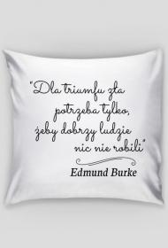 Poszewka na poduszkę - Cytat, E. Burke