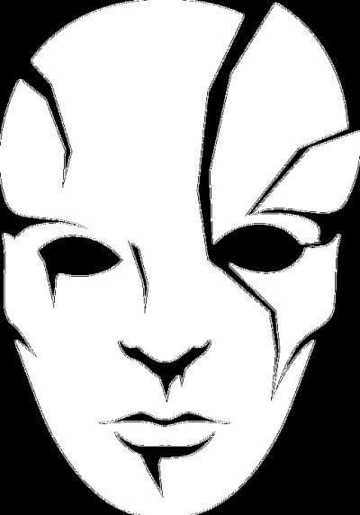 Maska - ♀ czarna