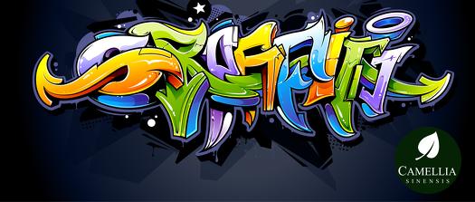 Kubek do herbaty Grafiti