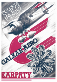 Plakat A2 42x59cm POL Karpaty vintage
