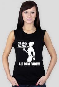 Koszulka Nie daję już rady Damska Czarna bezrękawnik