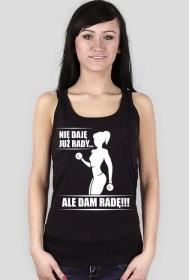 Koszulka Nie daję już rady Damska Czarna na ramiączkach