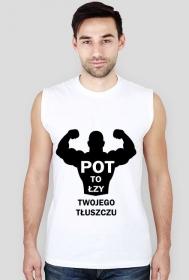 Koszulka Pot to łzy Twojego Tłuszczu Męska bezrękawnik