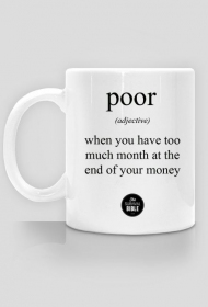 Definition: poor.