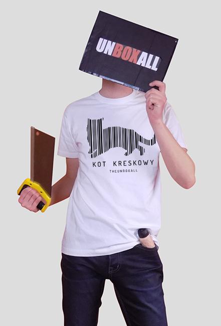 Koszulka Kot Kreskowy Czarny Nadruk Koszulki Męskie W Theunboxall