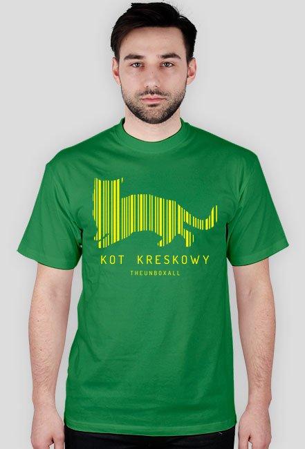 Koszulka KOT KRESKOWY (żółty nadruk)