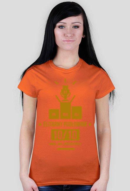 Koszulka ELITARNY PUDŁOWNIK DAMSKA (złoty nadruk)