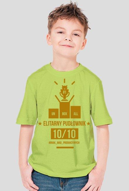 Koszulka ELITARNY PUDŁOWNIK DZIECIECA (złoty nadruk)