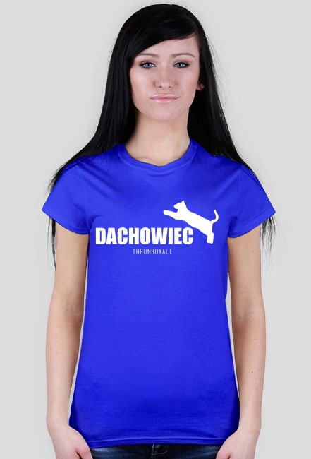 Koszulka DACHOWIEC DAMSKA (biały nadruk)