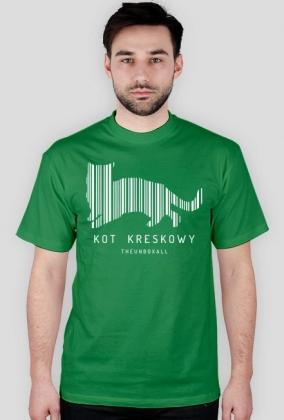 Koszulka KOT KRESKOWY (biały nadruk)