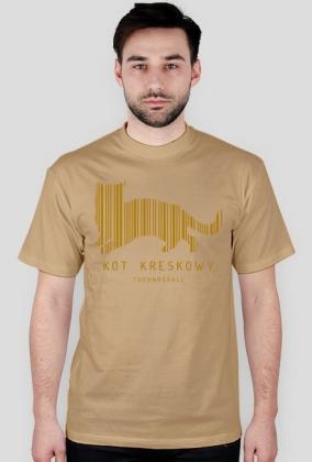 Koszulka KOT KRESKOWY LIMITED (złoty nadruk)