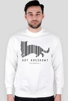 Bluza KOT KRESKOWY (czarny nadruk)
