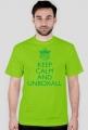 Koszulka KEEP CALM (zielony nadruk)