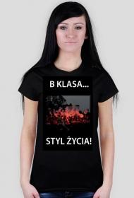 Koszulka czarna oprawa damska