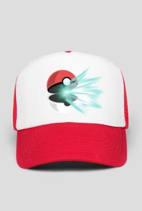 Czapka z daszkiem nadruk Pokemon Ball