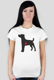 Damska koszulka - Russell Terrier - ciemny