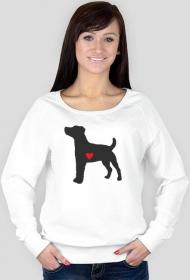 Damska bluza - Russell Terrier - ciemny