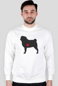 Męska bluza - Mops - ciemny