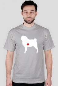 Męska koszulka - Mops