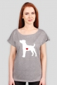 Damska koszulka (wycięcie) - Russell Terrier