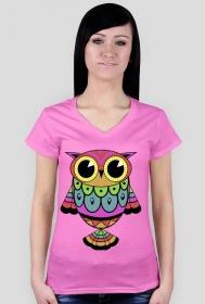 Koszulka damska SOWA kolor