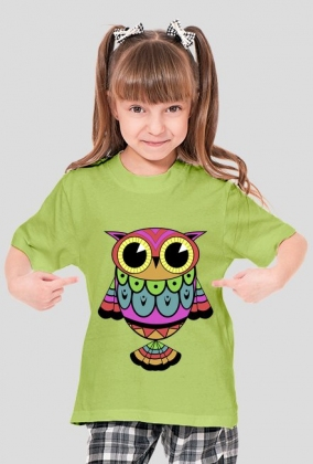 Dziewczęca koszulka SOWA kolor