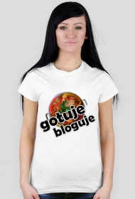 Koszulka z nadrukiem gotuje bloguje