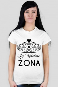 Koszulka z nadrukiem Jej Wysokość ŻONA
