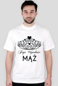 Koszulka z nadrukiem Jego Wysokość MĄŻ