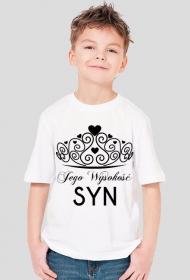 Koszulka dziecięca z nadrukiem Jego Wysokość SYN