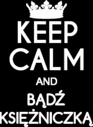 Koszulka z nadrukiem Keep Calm and bądż księżniczką