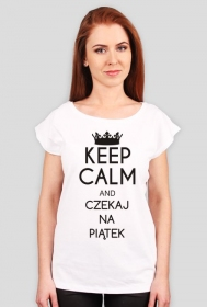Koszulka z nadrukiem Keep Calm and czekaj na piątek