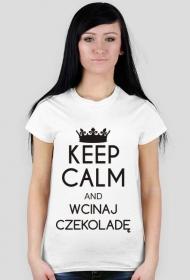 Koszulka z nadrukiem Keep Calm and wcinaj czekoladę