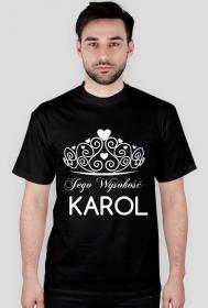 Koszulka personalizowana z nadrukiem Jego Wysokość Karol