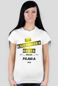 Koszulka personalizowana z nadrukiem Księżniczka IMIĘ swoje prawa ma