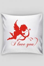 Poduszka/Poszewka na Walentynki z nadrukiem Amora I love you