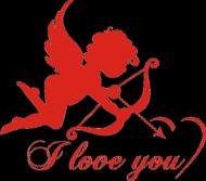 Koszulka na Walentynki z nadrukiem Amora I love you