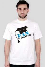 Koszulka na obronę z nadrukiem Pan Magister