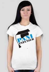 Koszulka na obronę z nadrukiem Pani Inżynier