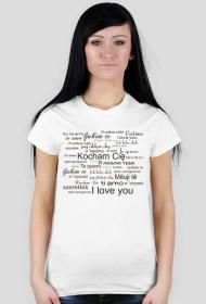 Koszulka na Walentynki z nadrukiem Kocham Cię czarne