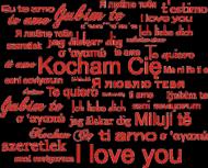 Poduszka/Poszewka na Walentynki z nadrukiem Kocham Cię czerwone