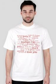 Koszulka na Walentynki z nadrukiem Kocham Cię czerwone