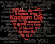 Kubek na Walentynki z nadrukiem Kocham Cię czerwone serce