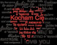 Poduszka/Poszewka na Walentynki z nadrukiem Kocham Cię czerwone serce